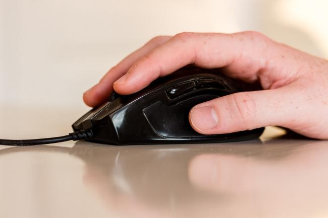 Hand on mouse. (Photo: Pellner/City of Heidelberg)